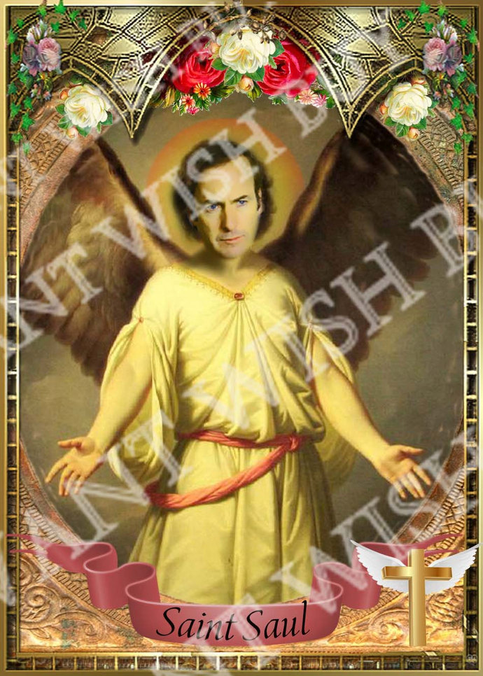 Saul Goodman  - Breaking Bad -  Celebrity Saint Prayer Candle