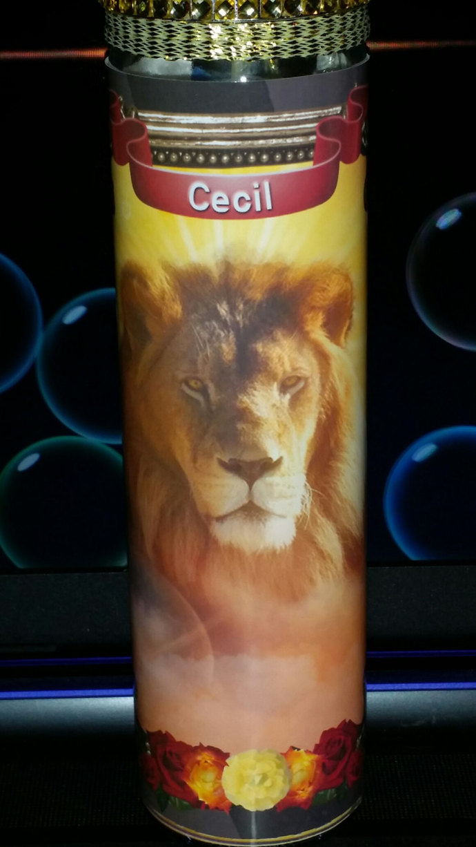 Cecil the Lion Memorial Candles - Prayer Candles