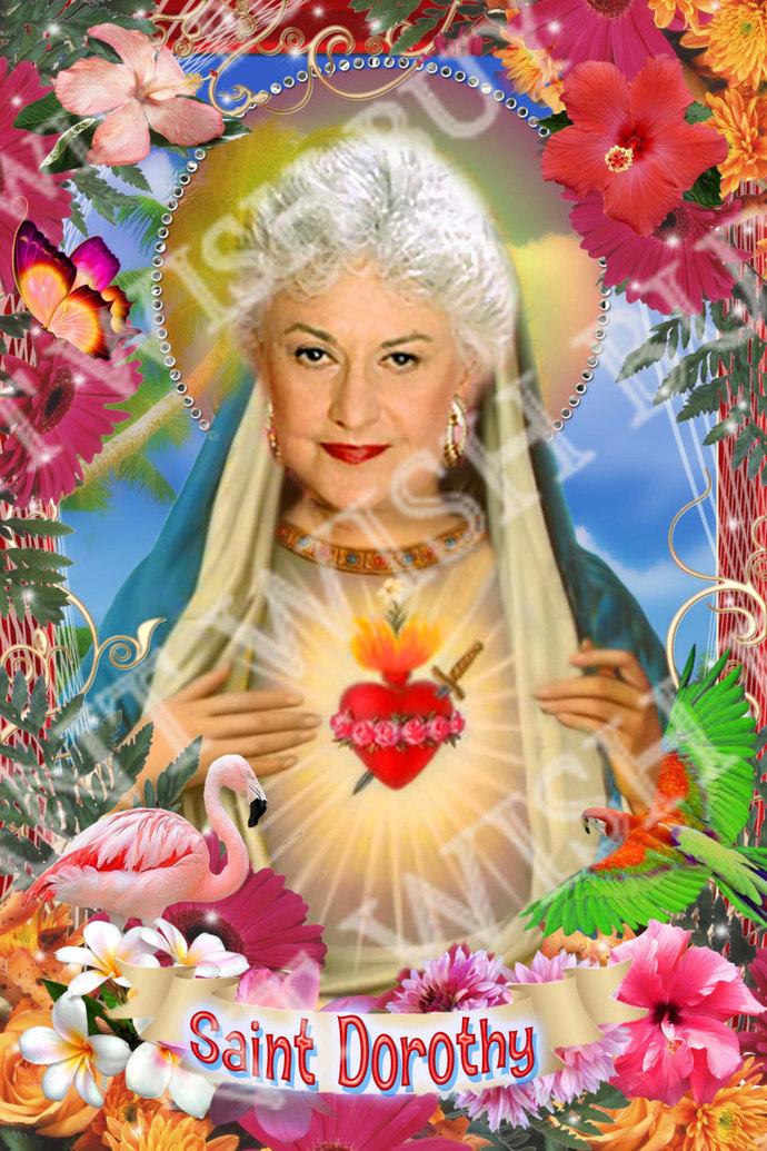 Golden Girls -  Sophia Petrillo - Estelle Getty -   Celebrity Tropical Prayer