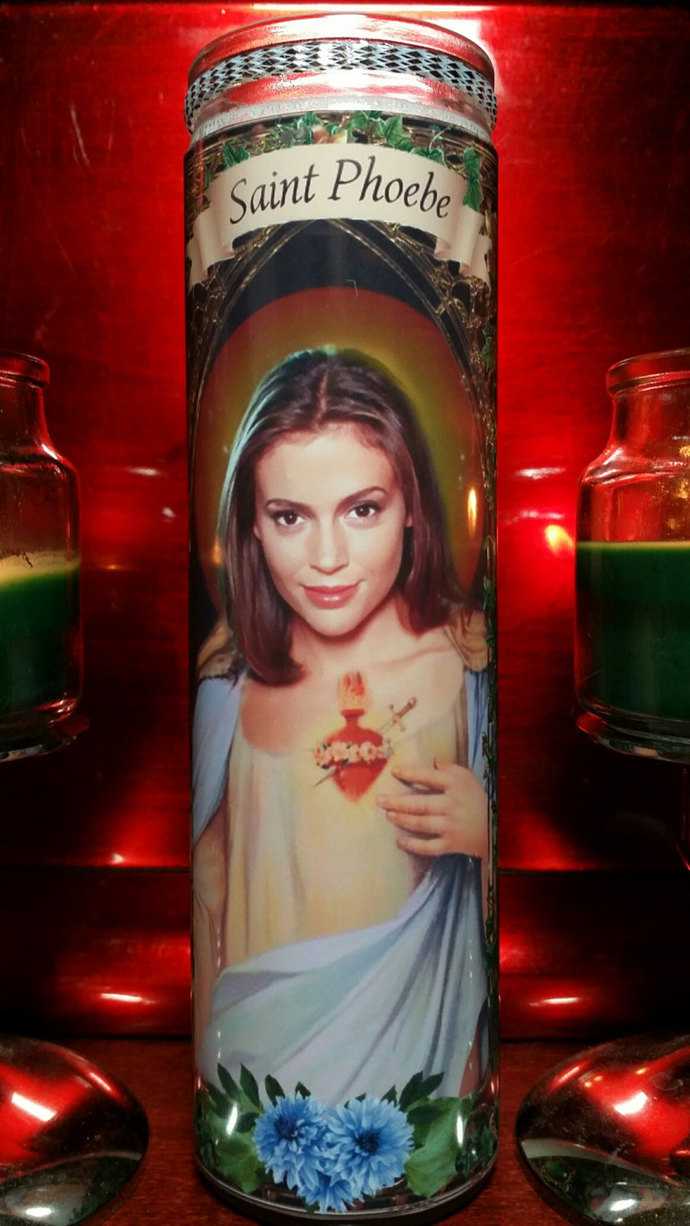 Alyssa Milano - Mistresses TV show - Celebrity Saint prayer Candle