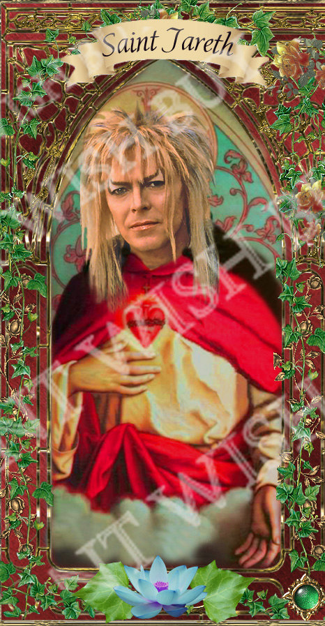 Jareth - Bowie - Devotional Celebrity Saint Prayer Candle