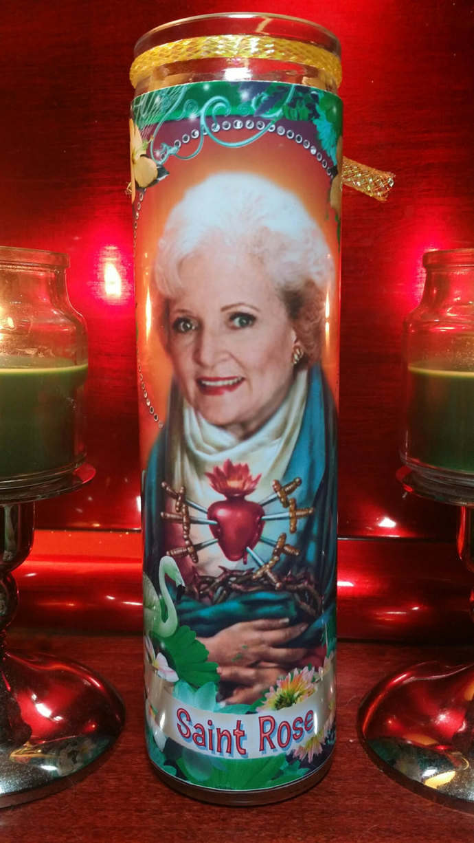 Golden Girls  -  Rose - Betty White  Celebrity Tropical Prayer Candle