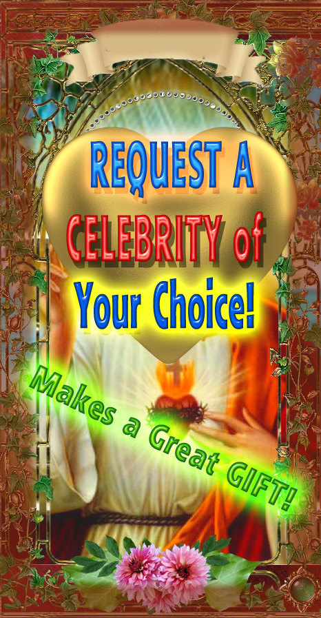 Request A Celebrity for a Saint Celebrity Prayer Candle - Any!  Proof Provided!