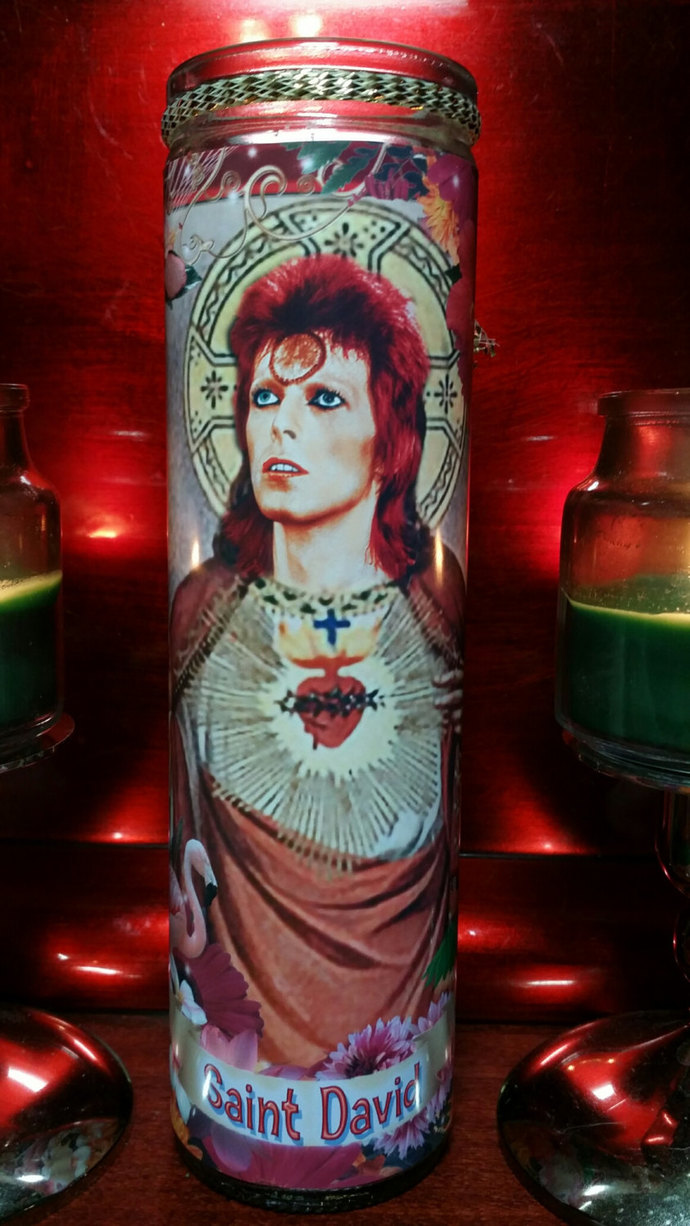 Jareth - Bowie - Celebrity Saint Prayer Candle