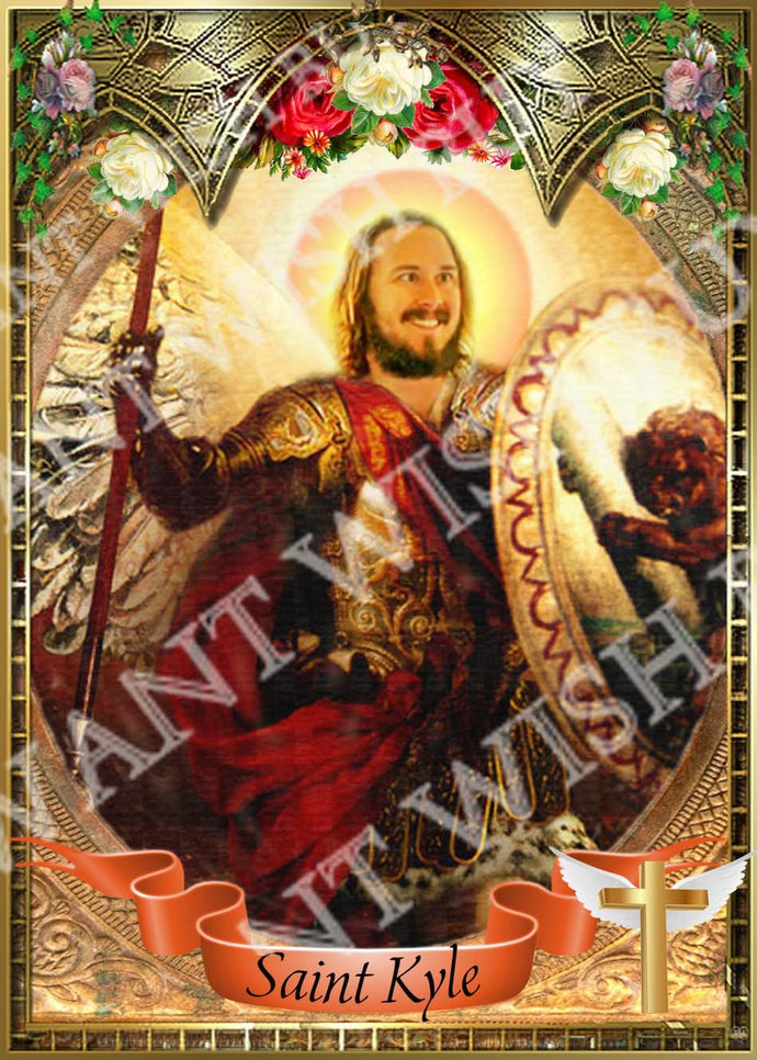 Kyle Hevacheck - Workaholics -  Celebrity Saint Prayer Candle
