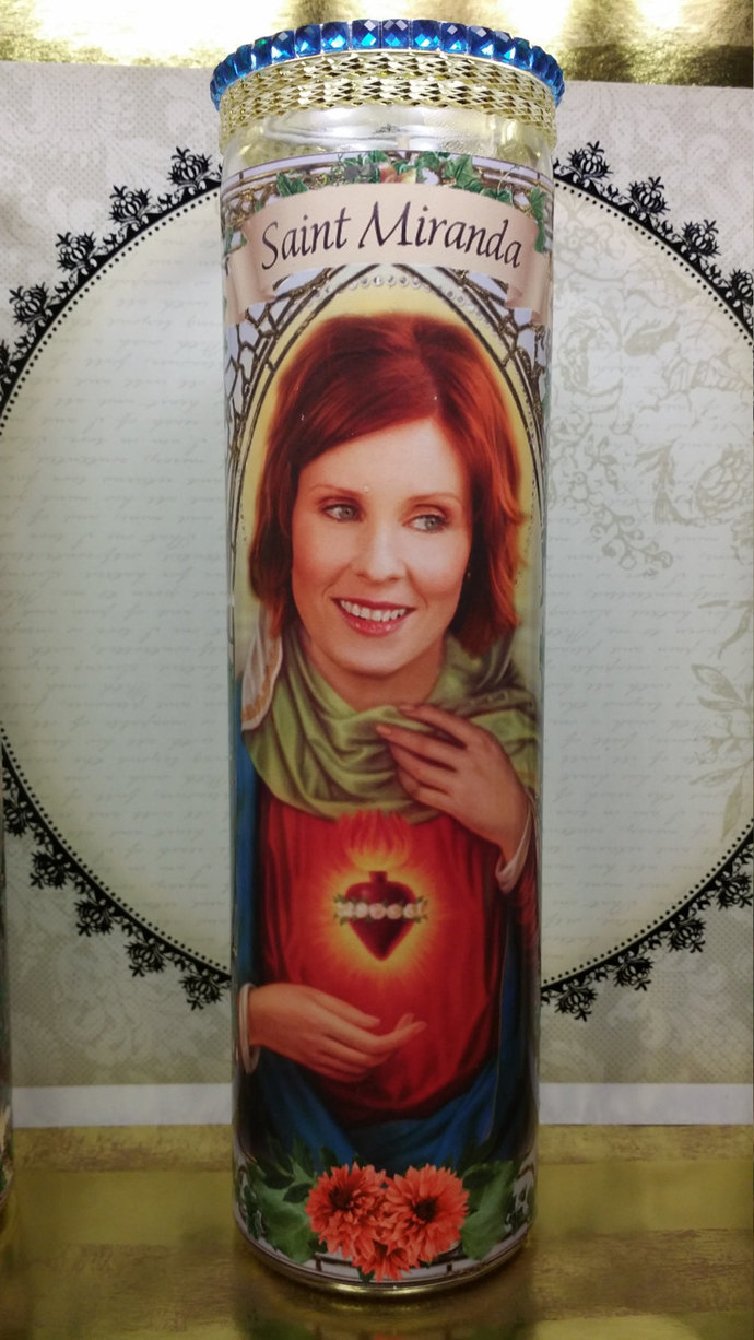 Sex in the City  -  Miranda - Cynthia Nixon -  Celebrity Saint Prayer Candle -