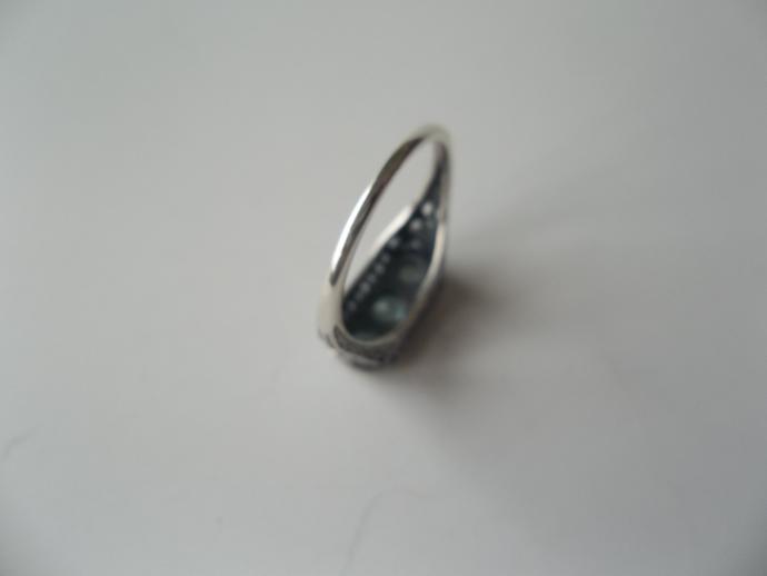 Aquamarine ring, March Birthstone, 925 silver ring, Holiday Gift Idea, High