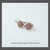 Teeny Tiny FLOWER Open Hoops in Copper and Silver Artisan Earrings 04