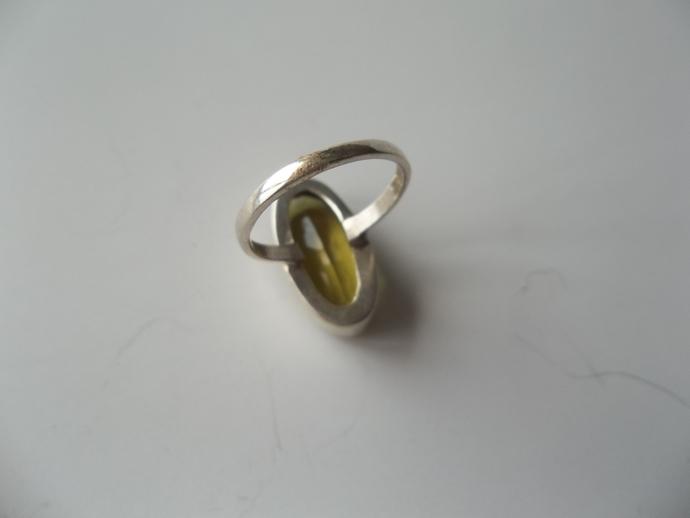 8ct Lemon Topaz Ring, cocktail ring, 925 silver,  size 6.5, Keepsake Gift, High