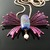 Wire woven butterfly pendant with lampwork bead