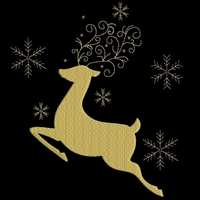 Christmas embroidery designs, deer design,machine designs,animal embroidery