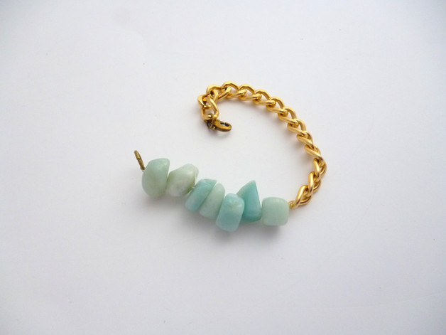 Amazonite & Chain Bracelet