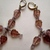 Pink Leaf Dangle Earrings
