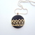 Black Fabric Pendant Necklace