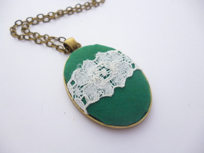 Green Fabric Pendant