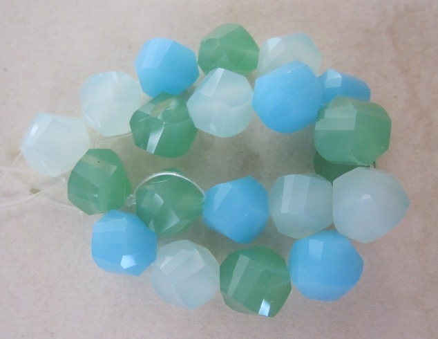 Tri-color Glass Beads