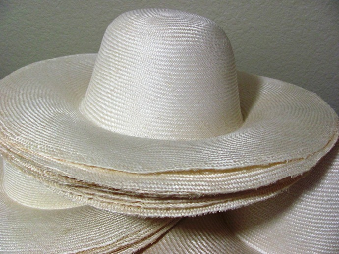 10 Parasisal Straw Hat Bodies Large Brim Natural Color for Millinery Hat Making