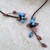 Chocolate Brown Turquoise Fairy Torc Necklace