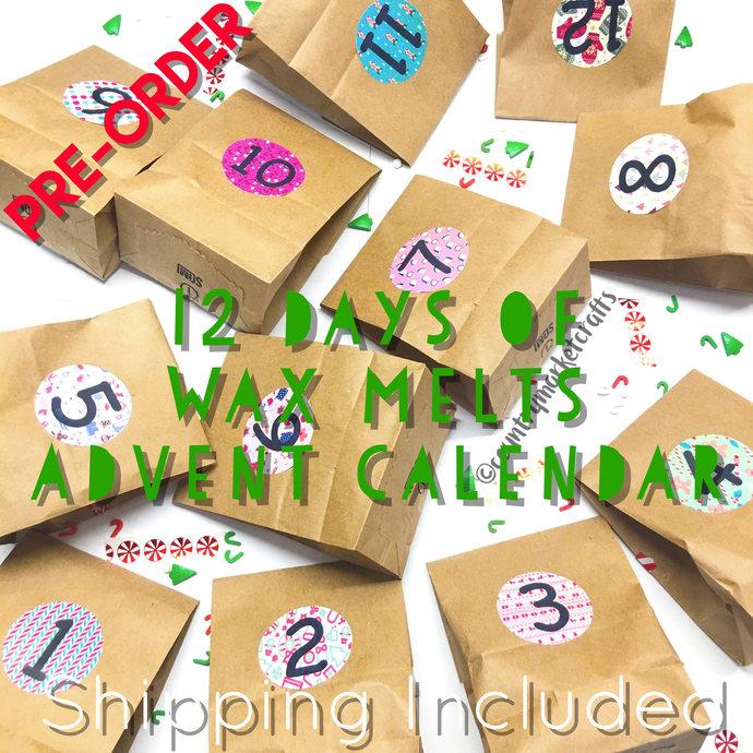 12 Days of Wax Melts - Advent Calendar Christmas Countdown Gift Set - Sampler