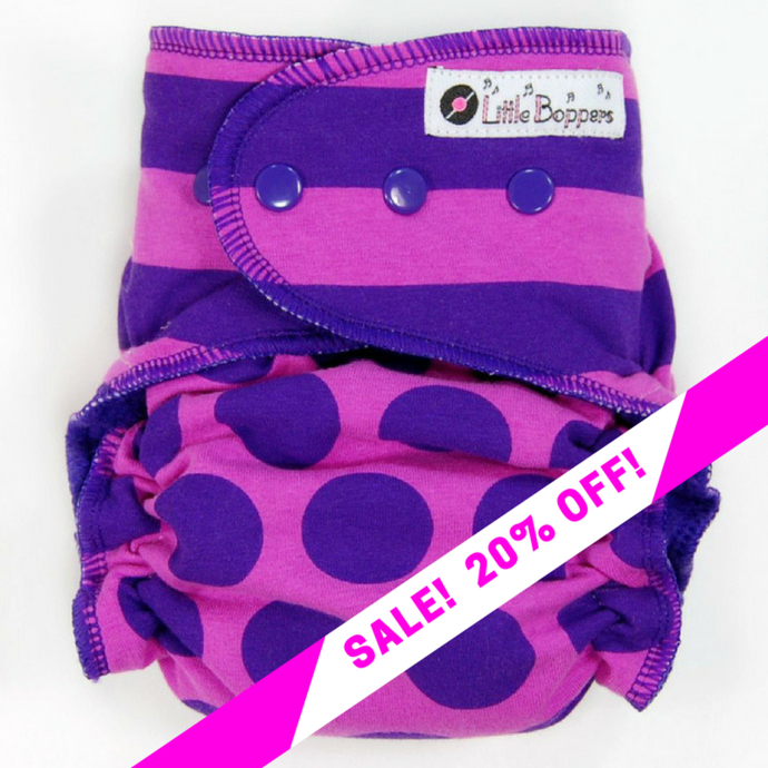 CLEARANCE SALE! Pink and Purple Stripes and Dots Combo