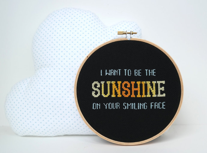 The Friendship Song | Modern cross stitch | Sunshine