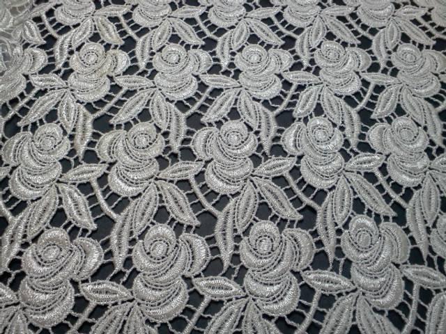Cream Rose Panel Lace