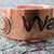 """WATER"" etched copper font cuff bracelet"