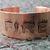 """FIRE"" etched copper font bracelet"