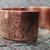 """AIR"" etched copper font cuff bracelet"