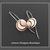 Dark Moon~ Copper Brass Crescent Moon Artisan Earrings