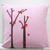 Custom Your Color. Love Trees Decorative White Pillow Cover. 16inch Cushion