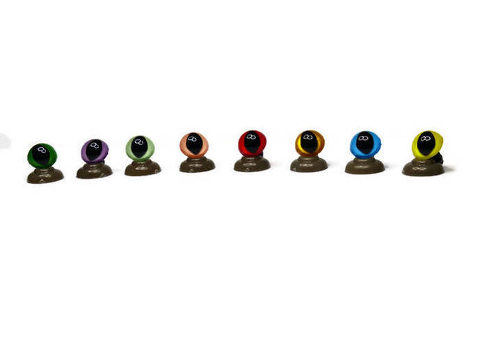 10mm Cat/Dragon Safety Eyes complete with push plastic washers. 16 Colours