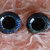 20mm German Glass Eyes Hand Painted Colour: Deep Blue Sparkle Uses: Teddy Bear,