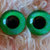 20mm German Glass Eyes Hand Painted Colour: Fluro Green & Blue Uses: Teddy Bear,