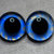 16mm German Glass Eyes Hand Painted Colour: Sky Blue & Gold Shimmer Uses: Teddy