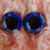 22mm German Glass Eyes Hand Painted Colour: Royal Blue & Gold Uses: Teddy Bear,