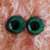 22mm German Glass Eyes Hand Painted  Colour: Green and Royal Blue (Earth