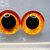 16mm German Glass Eyes Hand Painted Colour: Orange & Yellow Uses: Teddy Bear,