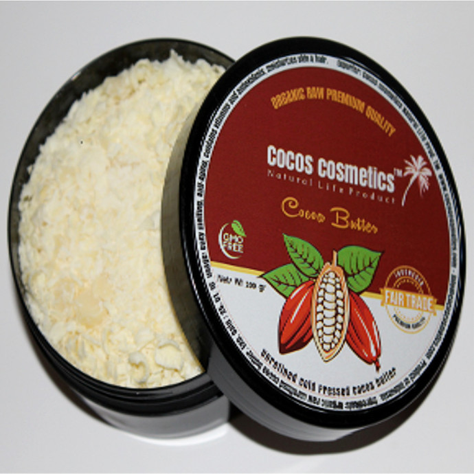 Raw Cocoa Butter/ Unrefined Cocoa Butter/ Cocoa Face Mask/ Cocoa Body Butter/