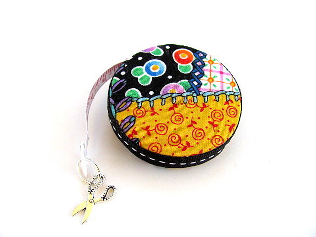 Tape Measure in Patchwork Retractable Pocket Measuring Tape