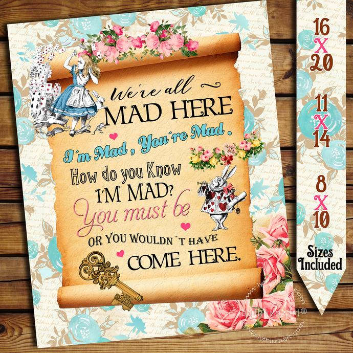 Alice In Wonderland Sign Alice In Wonderland By Lythiumart On Zibbet