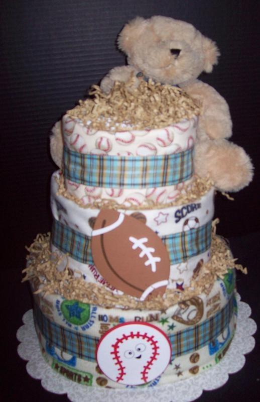 Custom Order Diaper Cake For Baby Shower By The Gift Stop On Zibbet