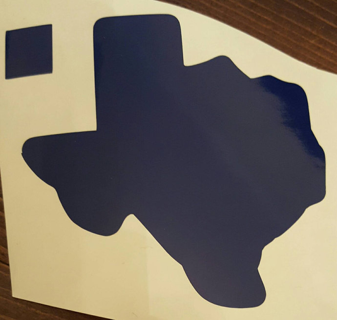 23 Oracal Blue Texas Decals