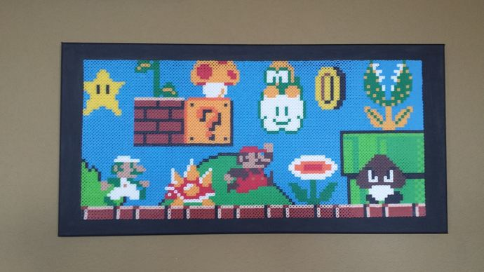 12x24, Super Mario Bros Canvas, Pixel Art
