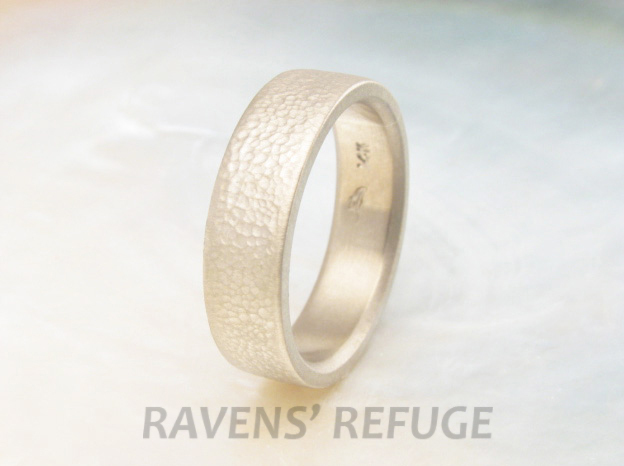 handcrafted textured wedding band / 6mm wedding ring with matte finish