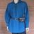 Blue Pirate Shirt, Medieval Costumes, Ren Faire Attire, Lace Up Poet's Shirt,