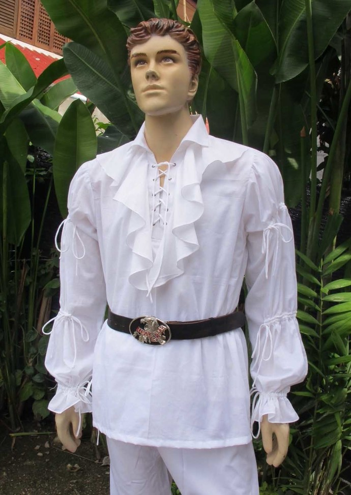 White Ruffle Shirt, Renaissance Clothing, Pirate Costume, Medieval Wedding, Mens