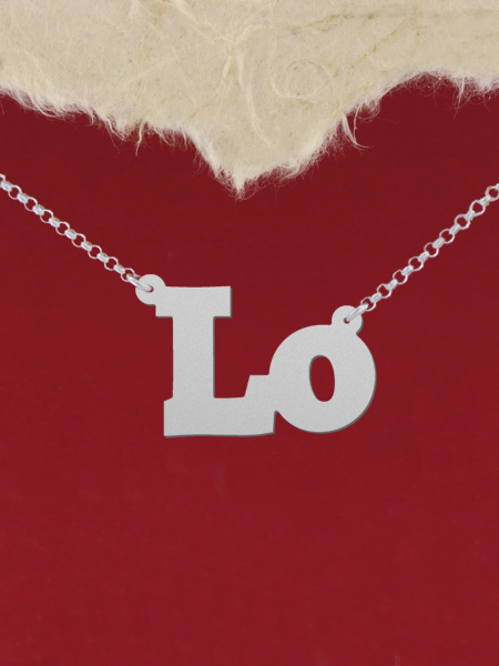 925 Silver Name Necklace Lo /Custom Name Jewelry/Personalized ANY NAME Plate