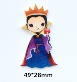 Cute Evil Queen resin needle minder, magnet, Snow White
