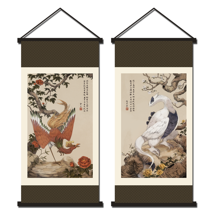 [PRE-ORDER] Ho-Oh/Lugia Chinese Scroll Paintings